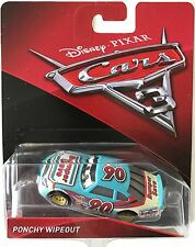 DISNEY CARS 3 PONCHY WIPEOUT  N°90 BUMPER SAVE 2017 NEW 90 PIXAR