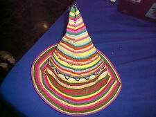CHILDS GIRLS BOYS UNIQUE POINTY HAT- COLOURFUL PIXIE FUNKY HIPPY FANCY DRESS SUN