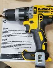 "Dewalt 20V Max XR Brushless Compact Hammer Drill Driver 1/2"" DCD796 Bare Tool"