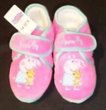 NEW GIRLS SLIPPERS PEPPA PIG PINK MARKS AND SPENCER SIZE 12 UK HALF BOOT 30 1/2