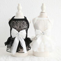 Princess Dog Wedding Dress Lace Small Pet Clothes Costume Cat Puppy Skirt Poodle