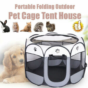 Pet Play Pen Puppy Dog Cat Cage Durable Fabric Foldable Travel Pop up Tent New
