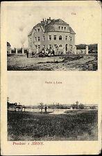 Jiřiny Tschechien Česká AK ~1910 Labe Elbe Elbbrücke Vila Villa Landhaus Brücke
