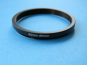 52mm to 49mm Stepping Step Down Ring Camera Lens Filter Adapter Ring 52mm-49mm