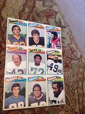 1977 Topps Football  9 card Uncut PROOF Sheet  Cowboys Cliff Harris All-Pro ++++