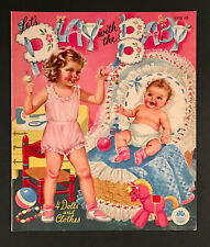 """""""LET'S PLAY WITH THE BABY"""" 1948 MERRILL UNCUT PAPER DOLLS VINTAGE"""