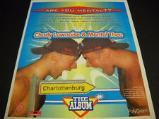 CHARLY LOWNOISE & MENTAL THEO fron Holland ask Are You Mental? 1995 PROMO AD