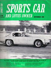 Sports CAR + LOTUS proprietario 11/59 LOTUS 7A Austin Healey Sprite cheshunt threlfall