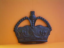 Large Solid Brass Old Kings Crown Military Wall Plaque