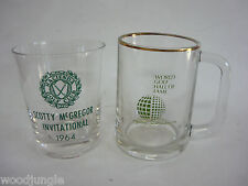 Vintage Scotty McGREGOR HACIENDA GOLF CLUB INVITATIONAL GLASS MUG HALL OF FAME