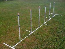 Dog Agility Equipment Weave Poles Adj ANGLE & SPACING  Free US Shipping