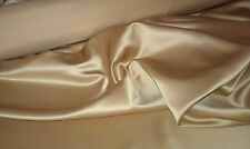 """TAN 100% POLYESTER BRIDAL LAMOUR SATIN FABRIC 58"""" WIDE BY THE YARD"""