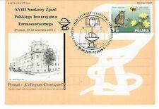 Poland 2001 pharmaceutical congress Xviii cancel postal card cachet pharmacy