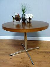 Vintage Chrom & Teakholz Beistelltisch Couchtisch coffee table 60er 70er Jahre