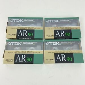 TDK AR-90 IECI / Type 1 Normal Position 1988 Sealed 4 Pack Cassette Tapes Japan