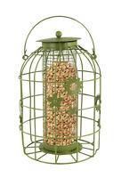 Metal Hanging Birds Peanut Feeder Flower Cage Green Garden Outdoor