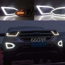 1 Pair LED DRL Fog Lights Daytime Running Lamp For Ford Edge 2015-2016