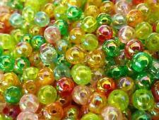 400 pce Colour Mix Aurora Borealis Round Acrylic Spacer Beads 4mm