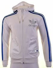 ADIDAS Mens Hoodie Sweater Small White Cotton  FH01