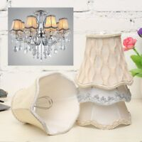 Vintage Small Lace Lampshades Textured Fabric Ceiling Chandelier Light Covers