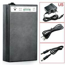 DC 5V/12V 2 In 1 USB Rechargeable 20000Mah Li-ion Battery Pack US Adapter