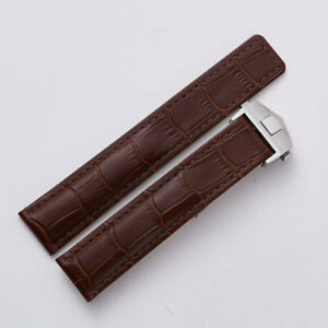 22mm Brown Leather Watch Band Strap Made For Citizen Eco-Drive With Clasp Buckle