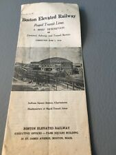 Descriptive Brochure On Boston Elevated Railway June 1, 1938