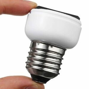 E27 Lamp Light Socket Holder Screw Bulb Convert To US EU Power Female Outlet