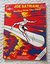 "1988 ""Surfing With The Alien"" Joe Satriani Guitar Tablature Songbook Silver"