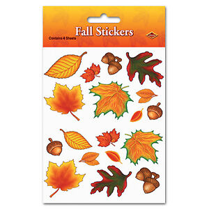 Fall Leaf Stickers Thanksgiving Decorations - Made In The USA