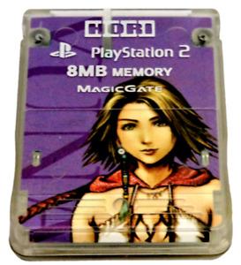 Hori Magic Gate PS2 Memory Card Final Fantasy X-2 Yuna 8MB