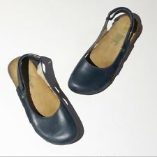 EL NATURA LISTA navy leather close toe sling SZ 38