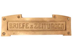 Originale ANTIKE Briefklappe Briefeinwurf Briefschlitz Briefkasten Altbau 1905