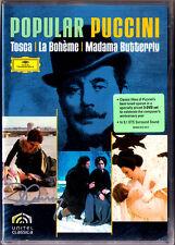 3.DVD Placido Domingo PUCCINI Signiert TOSCA MADAMA BUTTERFLY LA BOHEME Karajan