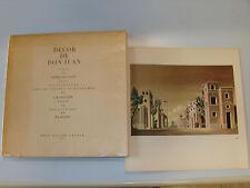 Decor de Don Juan ( Neuf ) Edition souple de René Kister Genève 1957