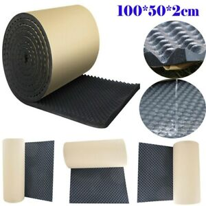 Acoustic Wall Foam Tiles Panels Studio KTV Insulation Sound Proofing Pads Roll
