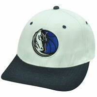 NBA Dallas Mavericks Flat Bill Snapback Licensed Adidas Hat Cap White Navy Blue