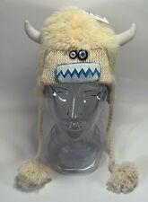 Kids Yuki the Yeti Hat Size: M/L Yeti Fuzzy White Winter Hat