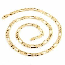 """24"""" 4mm 14KT Yellow Gold Filled Link Figaro Necklace Chain Jewelry For Women/Men"""