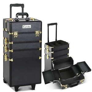 Portable Beauty Makeup Travel Trolley Cosmetic Case Bag Box Storage Organiser BG