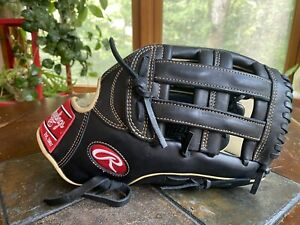 Rawlings 12.75 GG Elite Pro Series Glove Soft Leather Right Hand Black