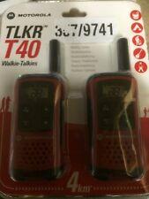 A 4 Km Motorola tlkr T40 2 manera Walkie Talkie Compacto Set PMR 446 Radio Kit - 2 Pack
