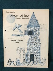 Judges Guild Citadel of Fire Fantasy Game Aid for use with Dungeons & Dragons
