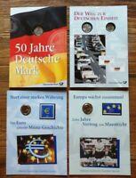 4 x BRD Numisblätter / Gedenkblätter Deutsche Einheit + DM + Euro Deutschland