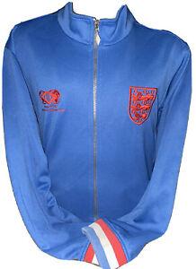 Retro Umbro England Rare Ramsey Style Blue Tracksuit Anthem Jacket Sized Large