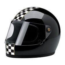 Casco Integrale Biltwell Gringo S Le Checker Cafe Racer Vintage Retro Visiera Bk