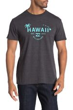 Billabong 2XL XXL Hawaii Haleiwa Palm Tee T-Shirt Short Sleeve Black Heather