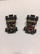 2 car lot CHASSIS ONLY Aurora ULTRA 5 slotless slot cars 1 Running, 1 for parts