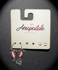 New Women'S Aeropostale Jeans Pink Stud Dangle Earrings Lot Set Of 2 Pair