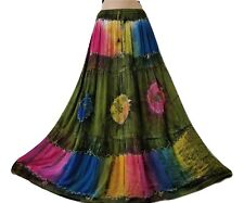 Tie Dye Boho Skirt Long Summer Holiday Gypsy Maxi Batik Georgette 10 12 14 16
